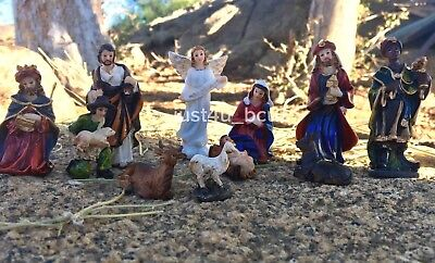 New Christmas Nativity Set Scene Figurines Figures Baby Jesus Nacimiento Holy - Child Nativity Set
