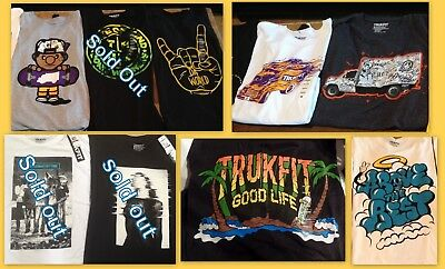 Trukfit Men's 100% Cotton T-Shirts by Lil Wayne Many Styles & Sizes New w/ (Lil Wayne Style)