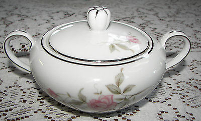 Vintage Barker Bros. Japan Sugar Bowl & Lid Pink Flowers 63-5827