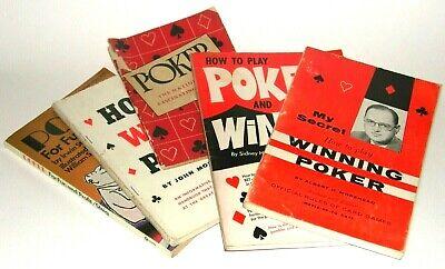 VINTAGE POKER BOOKS - by Steig - Moss - APCM - Radner - Morehead