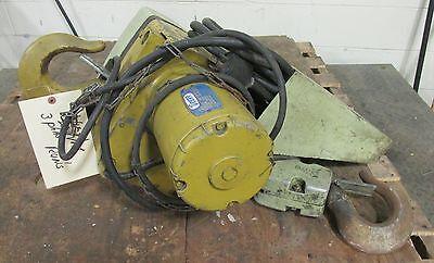 Yale Eaton 3 Ton Electric Hoist W/ Chain Basket W/ Doerr 2 HP Motor 19648ISU