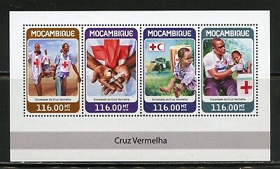 MOZAMBIQUE 2018 RED CROSS  SHEET MINT NH