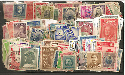 Other Caribbean stamps 1Cuba Collection Mix 400 Used Older Issues. f-vf