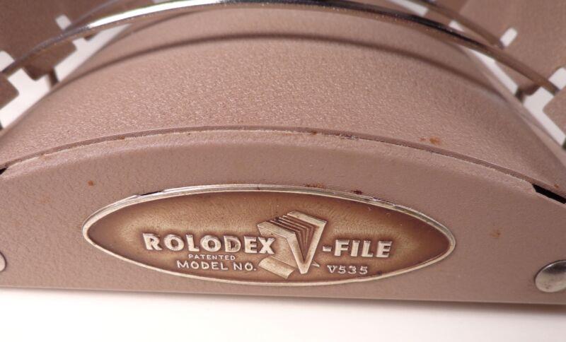 Vintage V535 Rolodex File