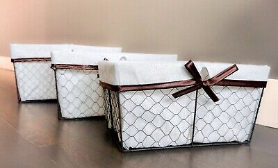 Baskets 4 Basket (Chicken Wire Nesting Basket Set by Handcrafted 4 Home (Set of)