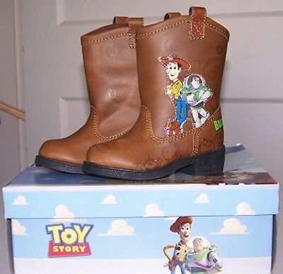 Disney BOYS Toy Story Cowboy BOOTS Woody Buzz Rodeo Halloween Costume Shoes NEW - Woody Costume Boots