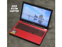 Asus F553M laptop (red colour) refurbished ***3 months warranty***