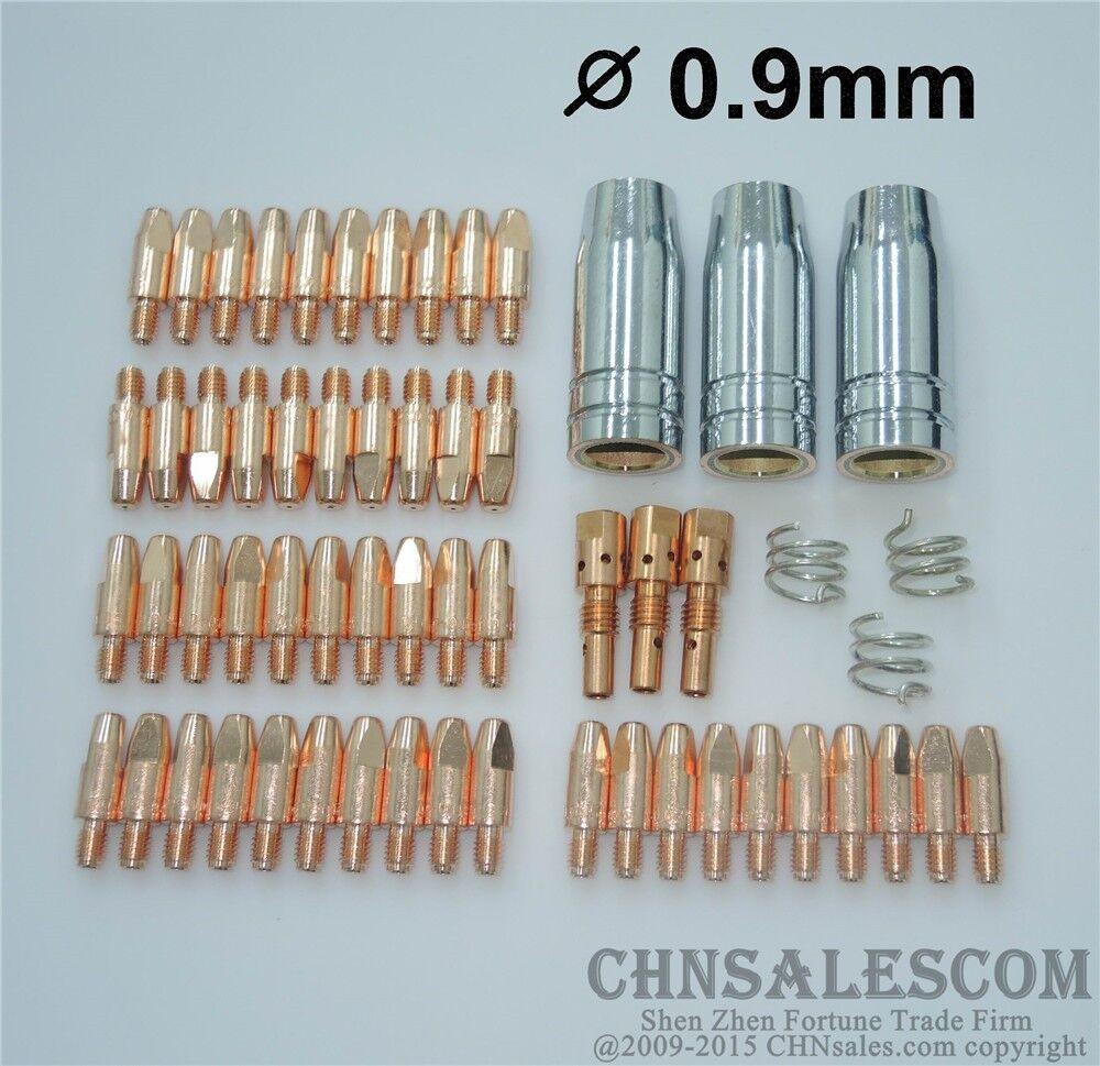 20Pcs MB 15AK MIG//MAG Welding Contact Tips 0.8x28mm M6 Gas Nozzle Shroud
