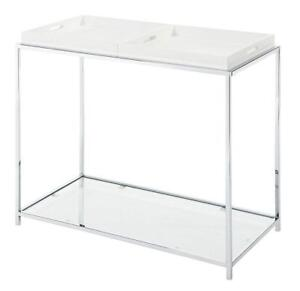 NEW Convenience Concepts Palm Beach Console Table, White Condition: New