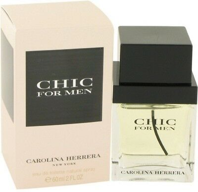 Carolina Herrera Chic Eau De Toilette Spray For Men 2 Oz