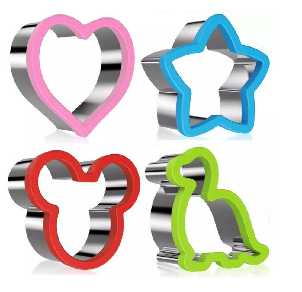 Cookie Biscuit Cutter Set Stainless Steel Pastry Cutter Stainless Steel Sandwich Baking Accs. & Cake Decorating