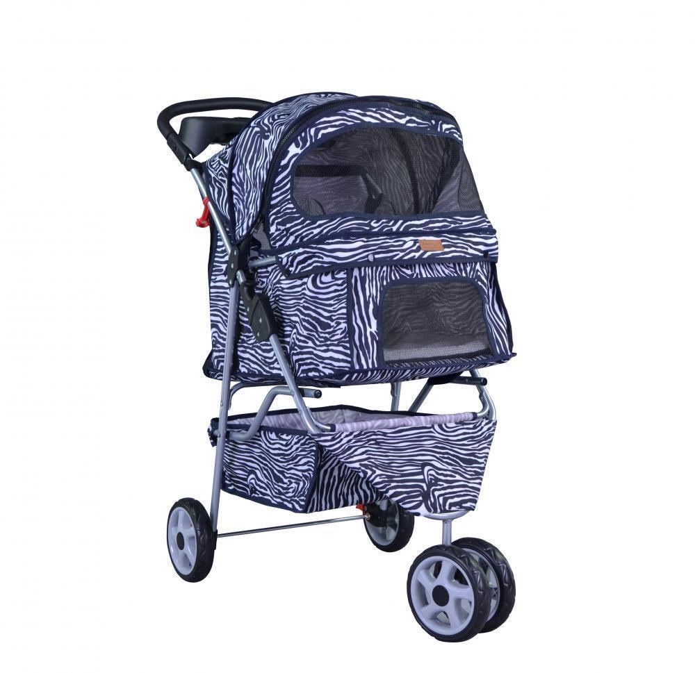 New BestPet all color 3 Wheels Pet Dog Cat Stroller Free RainCover Bird Supplies