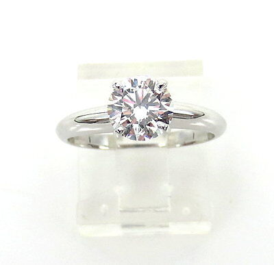 GIA Certified 1.01ct Ideal Cut F-VVS1 Diamond & 18K White Gold Solitaire Ring