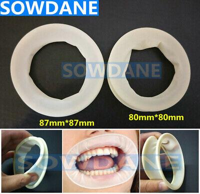 Dental Rubber Dam Retractors Rubber Latex Cheek Retractors Mouth Opener 2 Sizes