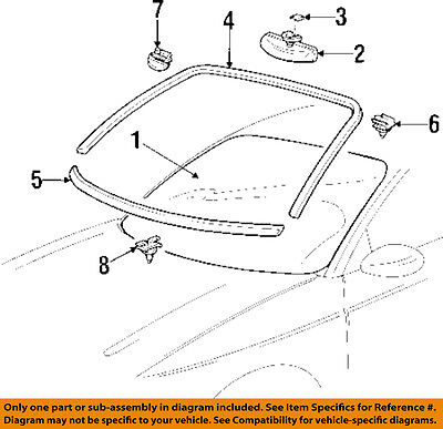 Cadillac GM OEM 97-01 Catera Windshield-Reveal Molding 90460335