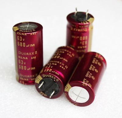 4pcs Elna 63v 680uf Duorex Ii Electrolytic Capacitor For Audio Hi-fi Filter