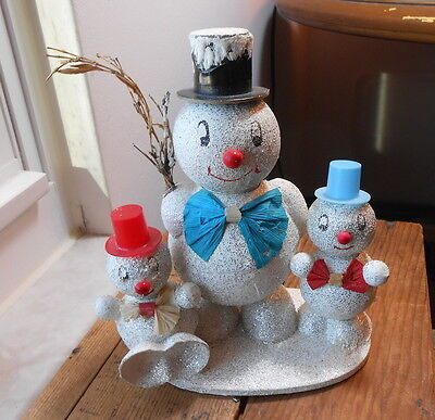 Three Snowmen Candy Containers Family