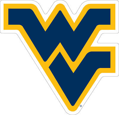 WVU WEST VIRGINIA Mountaineers Large Cornhole Decals / SET of 2
