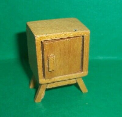 VINTAGE DOLLS HOUSE DOL TOI CONTEMPORARY BEDSIDE CUPBOARD 16th LUNDBY SCALE