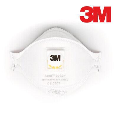 3M Aura 9332+ FFP3 Atemschutzmaske mit Filter Ventil Maske Filtermaske