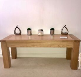 Solid Oak Bench / Coffee Table