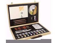 Brand New Daler Rowney Simply Acrylic Wooden Box Set paints paintbrush