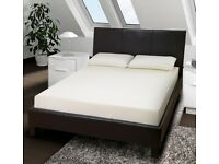 BEST SELLING BRAND -- WOW OFFER== NEW DOUBLE LEATHER BED AND MEMORY FOAM ORTHO MATTRESS RANGE