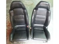 A pair of Toyota MR2 MK2 full leather seats