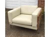 Robin day habitat armchair cream leather
