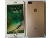 Apple iPhone 7Plus 128 GB Gold **£650 for Quick Sale**