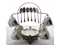 Vintage Bavaria Coffee/Tea Set With Stand Great for Christmas