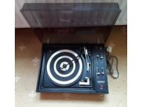 BSL Stereosound super 10 DL record turntable. Perspex lid. 3 speed.