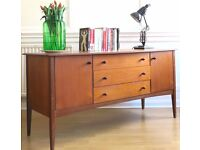Stylish Vintage Danish teak dressing table / sideboard / chest. Delivery. Modern / Mid century