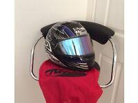 A Nitro Motorcycle Bike Helmet with Helmet Bag. As New.