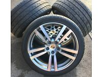 Immaculate Porsche 21 inch Wheels and Tyres
