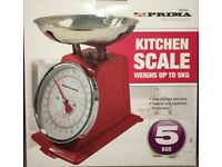 5KG Traditional Weighing Kitchen Scale-RED