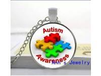 Autism awareness necklace pendants