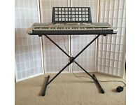 Yamaha Keyboard, Stand, Bench and Foot Pedal
