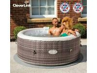 CLEVER SPA MAEVEA 4 PERSON INFLATABLE HOT TUB WITH CLEVERLINK
