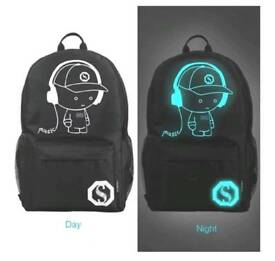 School backpack/ rucksack - fluorescent effect £15