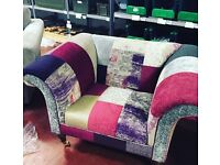 DFS Patchwork arm chair. Bought but never used.