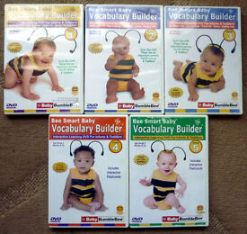 Be Smart Baby Vocabulary Builder DVDs Volumes 1-5 by Baby Bumble Bee