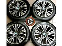 """19"""" Genuine BMW X5 alloys refurbished Anthracite Grey, outstanding cond, matching Goodyear tyres."""