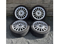 "17"" Genuine Alfa Romeo 156 alloy wheels tyres 5x98 147 GT"