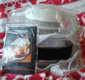 Cookshop Halogen Oven 11L with Accessories! BRAND NEW (RRP £40). Ideal for extra Christmas cooking!