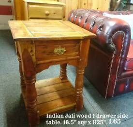 Indian Jali lamp table