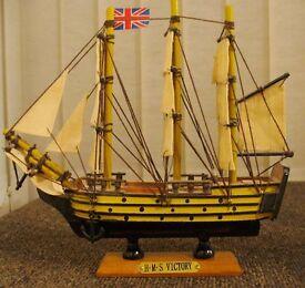 MODEL GALLEONS. HMS VICTORY. HMS MAYFLOWER + PIRATE SHIP
