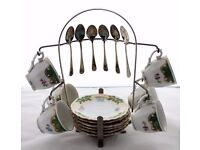 Vintage Bavaria Coffee/Tea Set With Stand