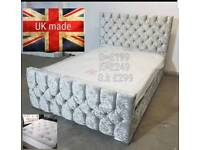 Brand new pearl button back bed frames can deliver 07808222995