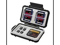 Memory card case holder